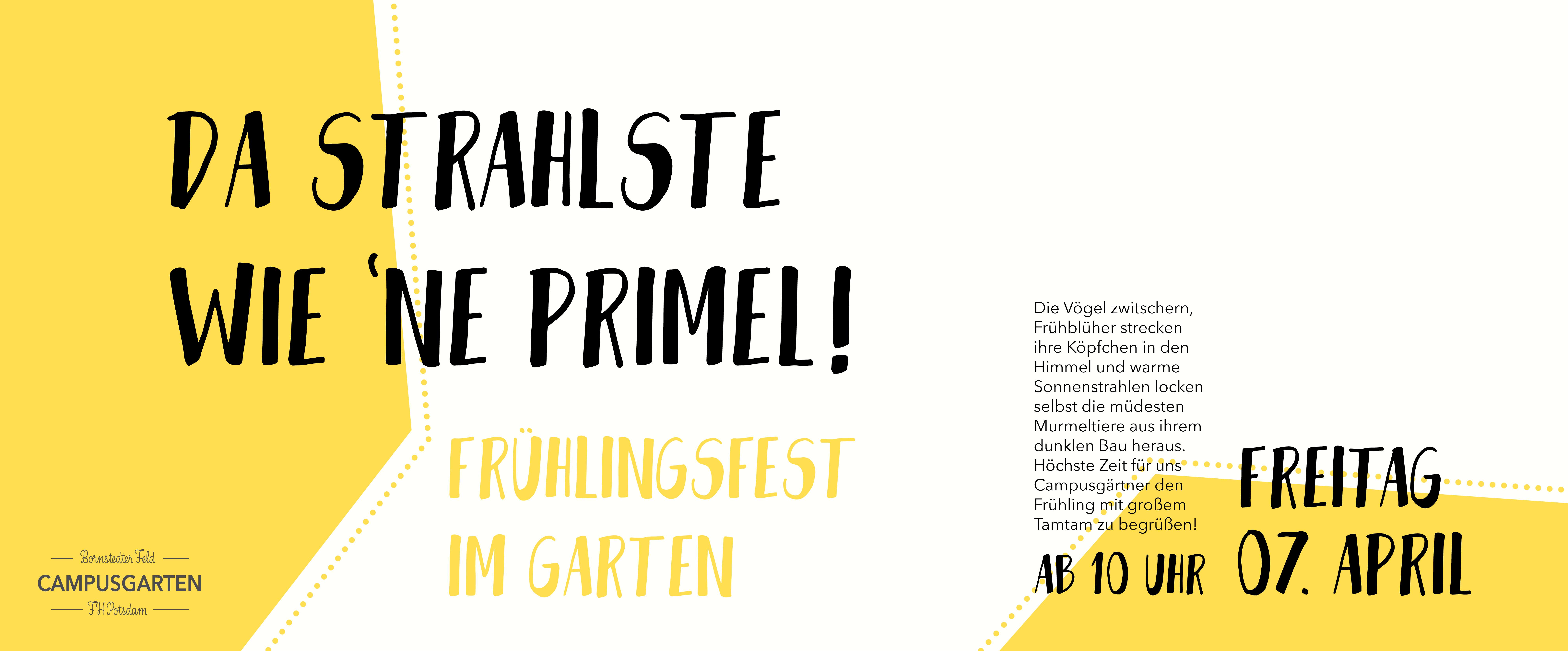 Frühlingsfest-Plakat
